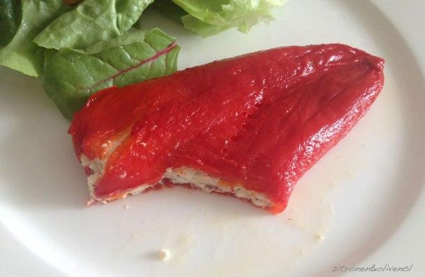 Rote Spitzpaprika mit Feta - Piperies Florinis me Feta