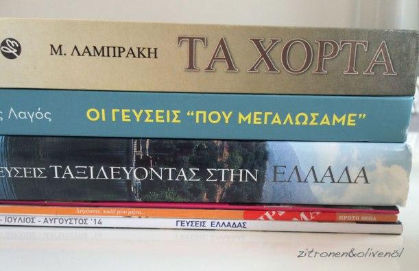 Griechische Kochbücher für Zitronen und Olivenöl