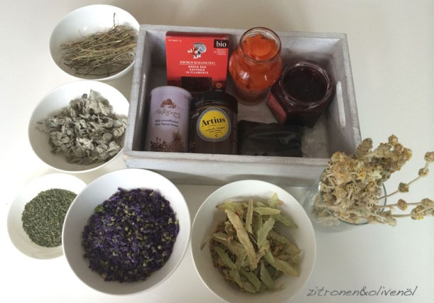Mitgebracht aus Griechenland Zitronen und Olivenöl