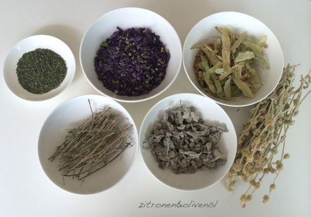 Tee und Kräuter aus Griechenland Zitronen und Olivenöl Blog