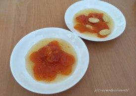 Sirupkarotten mit und ohne Mandeln, Gluko koutaliou karoto