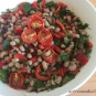 Schwarzaugenbohnen-Salat mit getrockneten Tomaten Salata mavromatika me liastes ntomates
