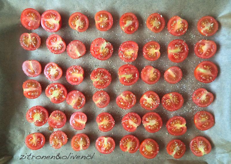 Tomaten im Ofen trocknen