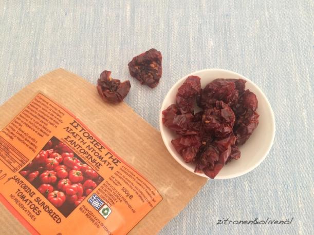 Getrocknete Tomaten aus Santorini