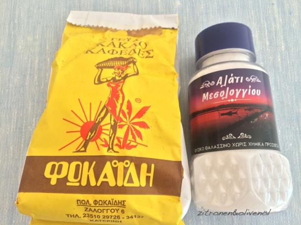 Griechischer Kaffee Salz aus Messolongi