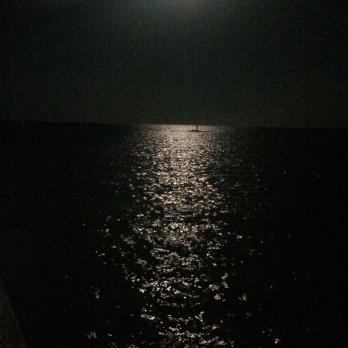 Paralia Katerinas in der Nacht