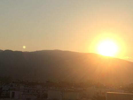 Sonnenuntergang über dem Olymp