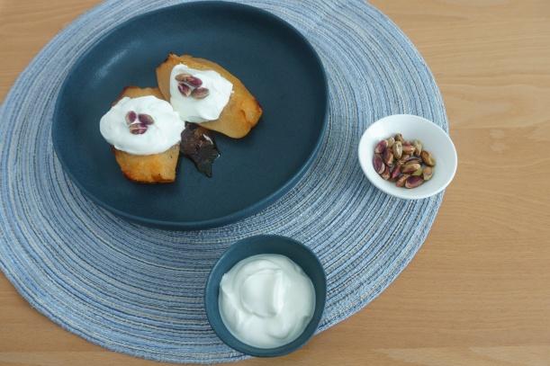 Gebackene Quitten mit griechischem Joghurt