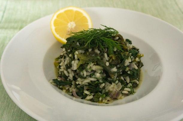 Spanakorizo - griechischer Spinatreis