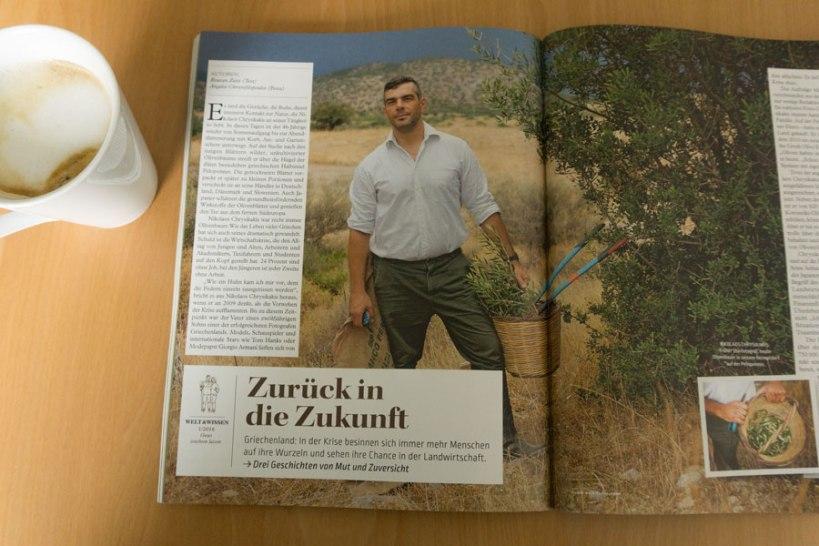 Zeitschrift Food & Farm, Interview mit griechischen Landwirten