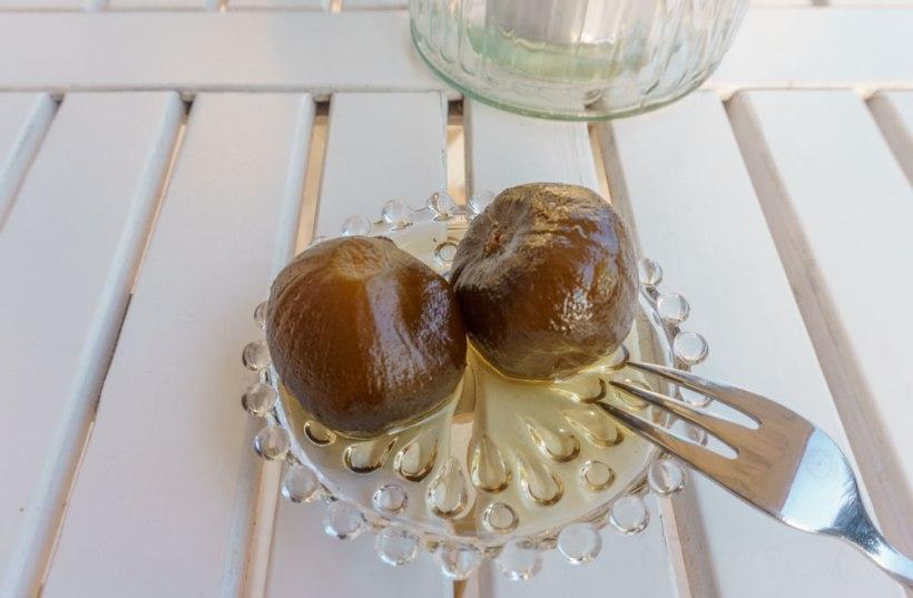Süß eingelegte Feigen