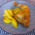 Griechisches Zitronenhähnchen mit Kartoffeln