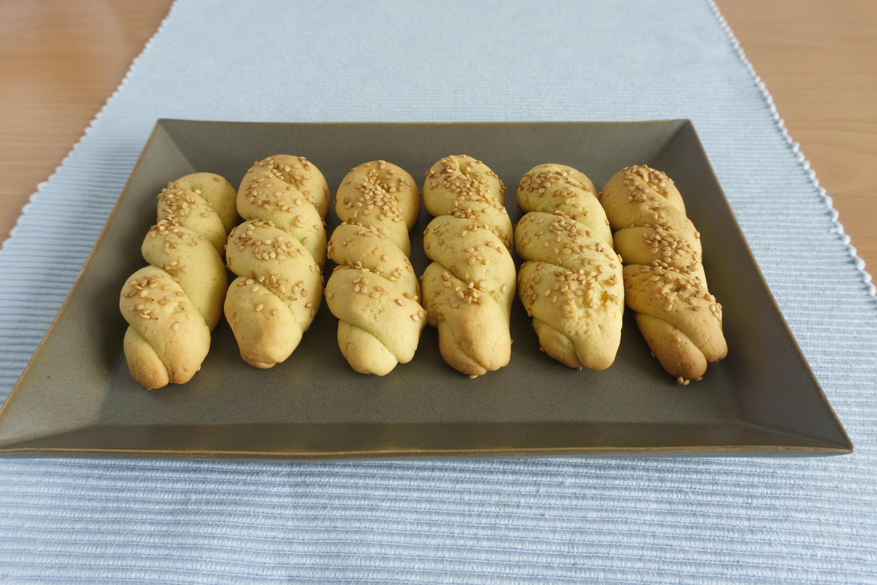 Ladokouloura - vegane Koulourakia mit Olivenöl und Orangensaft
